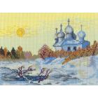 Рисунок на канве МП (24*30 см) 0093 «Благодатное зимнее утро»
