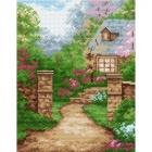 Рисунок на канве МП (24*30 см) 0843 «Дом в саду»