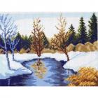 Рисунок на канве МП (24*30 см) 0241 «Весенние проталины»