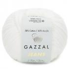 Пряжа Джинс-GZ (Gazzal, Jeans-GZ), 50 г / 170 м, 1101 молочный