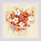 Набор для вышивания Риолис №1913 «Букет с лагурусом и хлопком» 25*25 см
