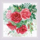 Набор для вышивания Риолис №1916 «Красный шиповник» 20*20 см