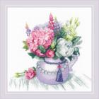 Набор для вышивания Риолис №1931 «Цветочное очарование» 30*30 см