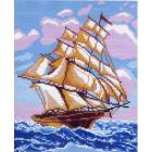 Рисунок на канве МП (28*37 см) 0271-1 «На всех парусах»