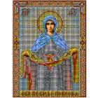 Ткань для вышивания бисером МП 3006 «Покрова Богородицы» 28*34 см