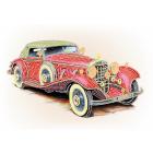 Ткань для вышивания бисером МП 4171 «Красное ретро » 28*34 см