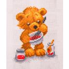 Рисунок на канве МП (16*20 см) 1661 «Мишка поваренок»