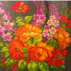 Рисунок на канве МП (41*41 см) 1030 «Сияние ночи» (снят) цветы