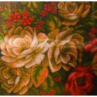 Рисунок на канве МП (41*41 см) 0963 «Цветочные тайны. Подушка» (снят)