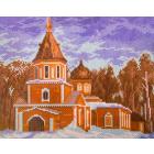 Рисунок на канве МП (24*30 см) 0358 «Церковь Казанская»