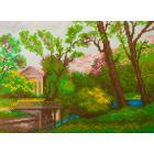 Рисунок на канве МП (24*35 см) 0349/1 «Весенний парк» (снят)