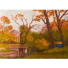 Рисунок на канве МП (24*35 см) 0349 «Осенний парк» (снят)