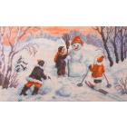 Рисунок на канве МП (24*35 см) 0800 «Зимние забавы» (снят)