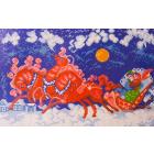 Рисунок на канве МП (24*35 см) 0477 «Катание на тройке»