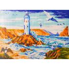 Рисунок на канве МП (24*35 см) 0296 «Маяк в скалах» (снят)