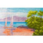 Рисунок на канве МП (24*35 см) 0697 «Морской пейзаж»