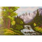 Рисунок на канве МП (24*35 см) 0397 «Горная река» (снят)