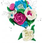 Набор для творчества Школа талантов 2985091 брошь из полимерной глины «Цветы»