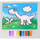 Фреска песком 3803818 «Динозавр» 9 цветов