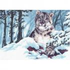 Рисунок на канве МП (33*45 см) 0820 «Снежный барс»