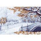 Рисунок на канве МП (37*49 см) 1200 «Первый снег»