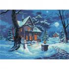 Рисунок на канве МП (37*49 см) 0644 «Зимний вечер»