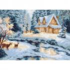 Рисунок на канве МП (37*49 см) 0643 «Таежный домик»