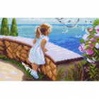 Рисунок на канве МП (28*37 см) 0874 «Летняя прогулка»