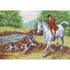 Рисунок на канве МП (37*49 см) 0850 «Охотник»