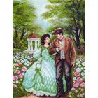 Рисунок на канве МП (37*49 см) 1374 «Прогулка по саду»