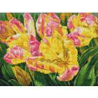 Алмазная мозаика Подсолнух UB140 «Желтые тюльпаны» 30*40 см на подрамнике