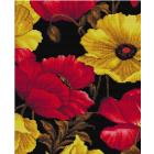 Алмазная мозаика Подсолнух UB189 «Красно-желтые маки» 30*40 см на подрамнике