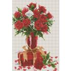 Алмазная мозаика Подсолнух UD136 «Розы к подарку» 20*30 см на подрамнике