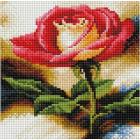 Алмазная мозаика Подсолнух UC106 «Красная роза» 20*20 см на подрамнике