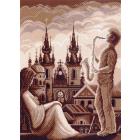 Рисунок на канве МП (37*49 см) 1463 «Муза»