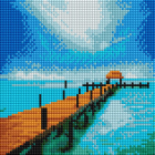 Алмазная мозаика Подсолнух UC187 «Морской пирс» 20*20 см на подрамнике