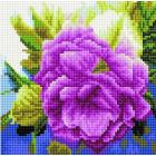 Алмазная мозаика Подсолнух UC203 «Лиловая роза» 20*20 см на подрамнике