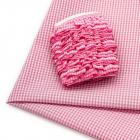 Ткань 50*70 см 28942 п/э с тесьмой «рюш» розовый  566012