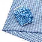 Ткань 50*70 см 28942 п/э с тесьмой «рюш» голубой  566013