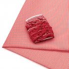 Ткань 50*80 см 28943 п/э с тесьмой «рюш» красный  566015