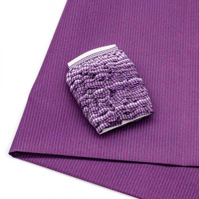 Ткань 50*80 см 28943 п/э с тесьмой «рюш» сиреневый  566017 в интернет-магазине Швейпрофи.рф