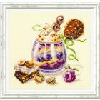 Набор для вышивания Чудесная Игла  №120-080 «Шоколадный десерт» 17*17 см
