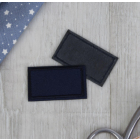 Термоаппликация 4327343 «Прямоугольник» т.синий 4,5*2,5 см