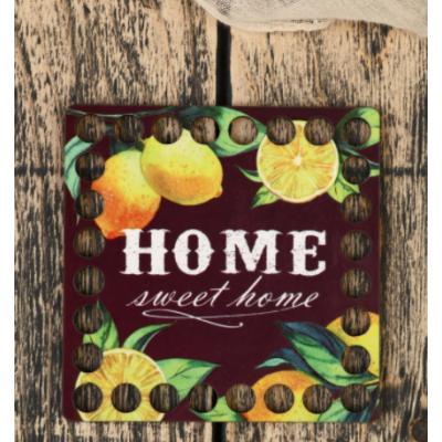 Заготовка для декора 4624095 «Квадрат. Лимоны» донышко дерев. 10*10 см в интернет-магазине Швейпрофи.рф