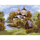 Рисунок на канве МП (28*34 см) 0983 «Деревенская церковь»