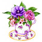 Рисунок на канве МП (28*37 см) 1906 «Роза в чашке»