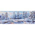 Рисунок на канве МП (40*90 см) 1360 «Зимний лес»