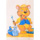 Рисунок на канве Гамма 056 «Мишка с инструментами» 20*20 см