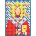 Ткань для вышивания бисером А6 КМИ-6404 «Св. Петр» 7*10 см