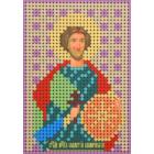 Ткань для вышивания бисером А6 КМИ-6420 «Св. Валерий» 7*10 см